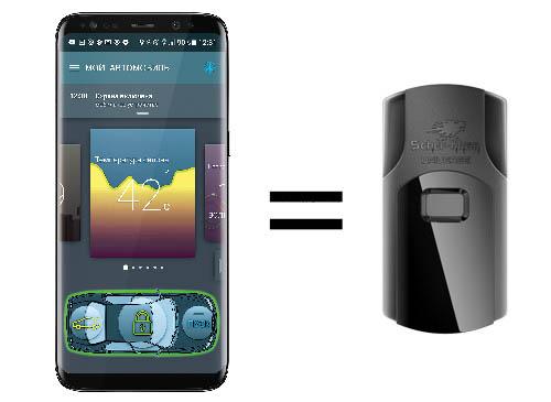 Автосигнализация с автозапуском с управлением с телефона SCHER-KHAN MOBICAR B